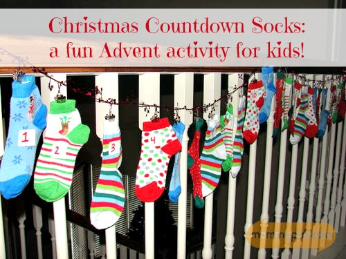 Christmas Countdown Socks - an advent activity for kids