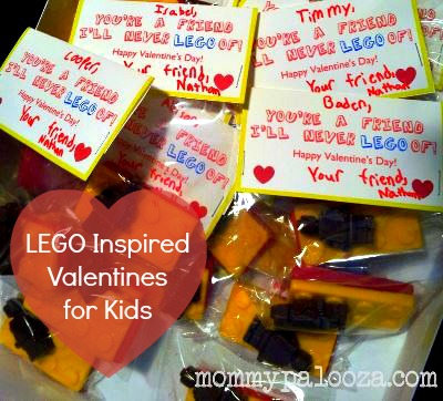 LEGO inspired Valentines for Kids