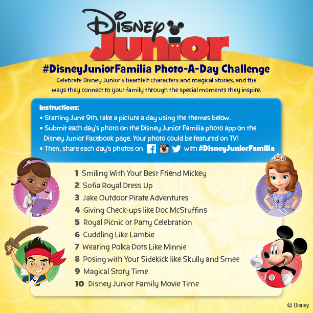 #DisneyJuniorFamilia 10 Day Photo Challenge