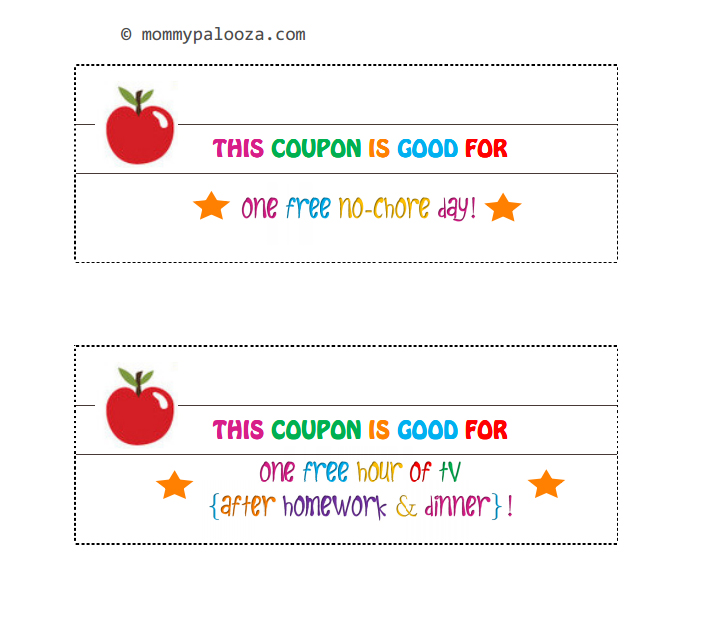 coupon template for kids