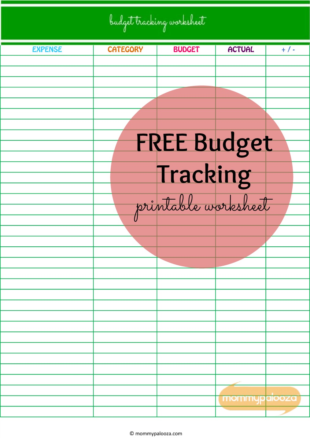 Worksheets Get Out Of Debt Budget Worksheet how payoff can help you get out of debt and free printable budget tracking worksheet mommypalooza