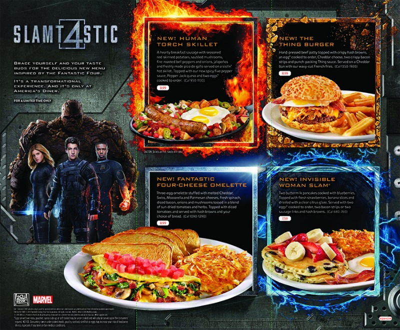 Denny's Announces Fantastic Four Sweepstakes and Slamtastic 4 Limited Time Menu #DennysDiners
