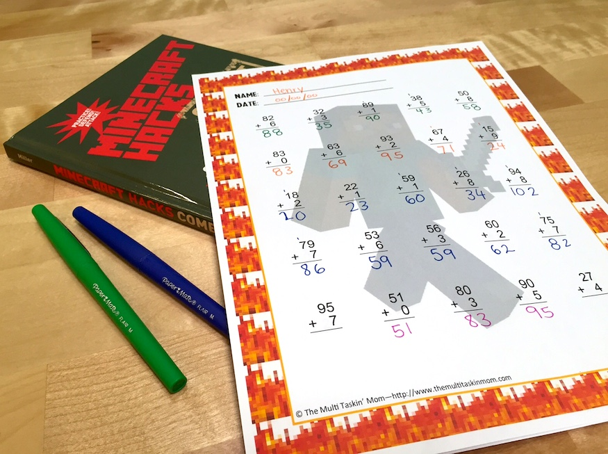 FREE Minecraft-Themed Math Worksheets Your Kids Will Love ...