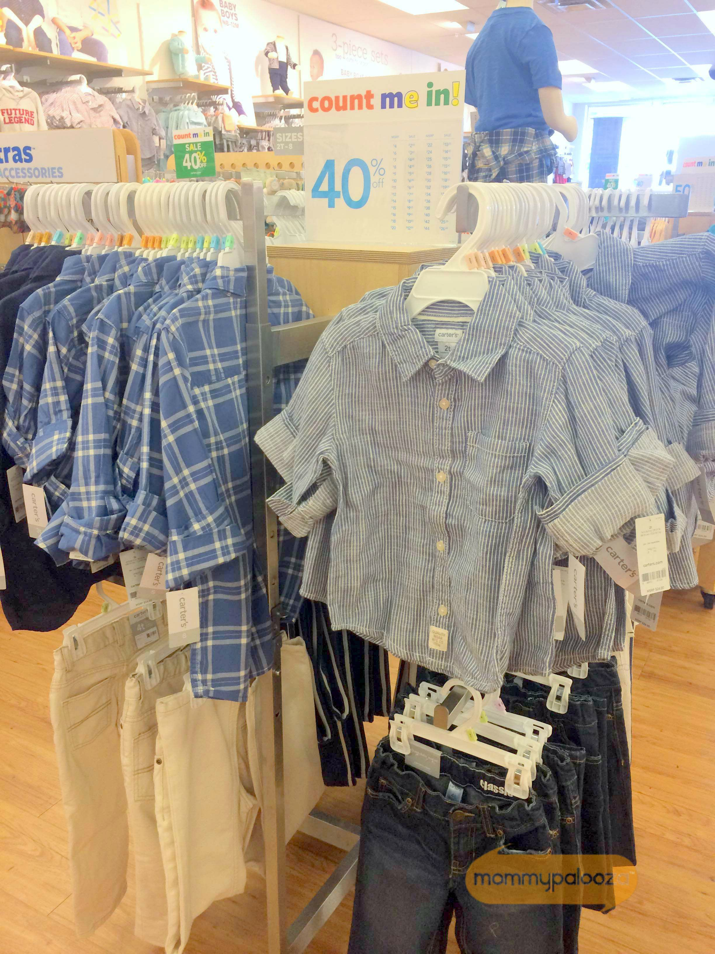 Carter's stores have everything your kids need for back to school season. With their fantastic sales and coupons like this, you can get a great deal on kids' jeans, tops, accessories, and all the basics. Their quality is really good and I love their fun and playful designs, plus they now carry size 8 - which is great!