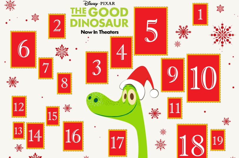 Disney's The Good Dinosaur Printable Advent Calendar