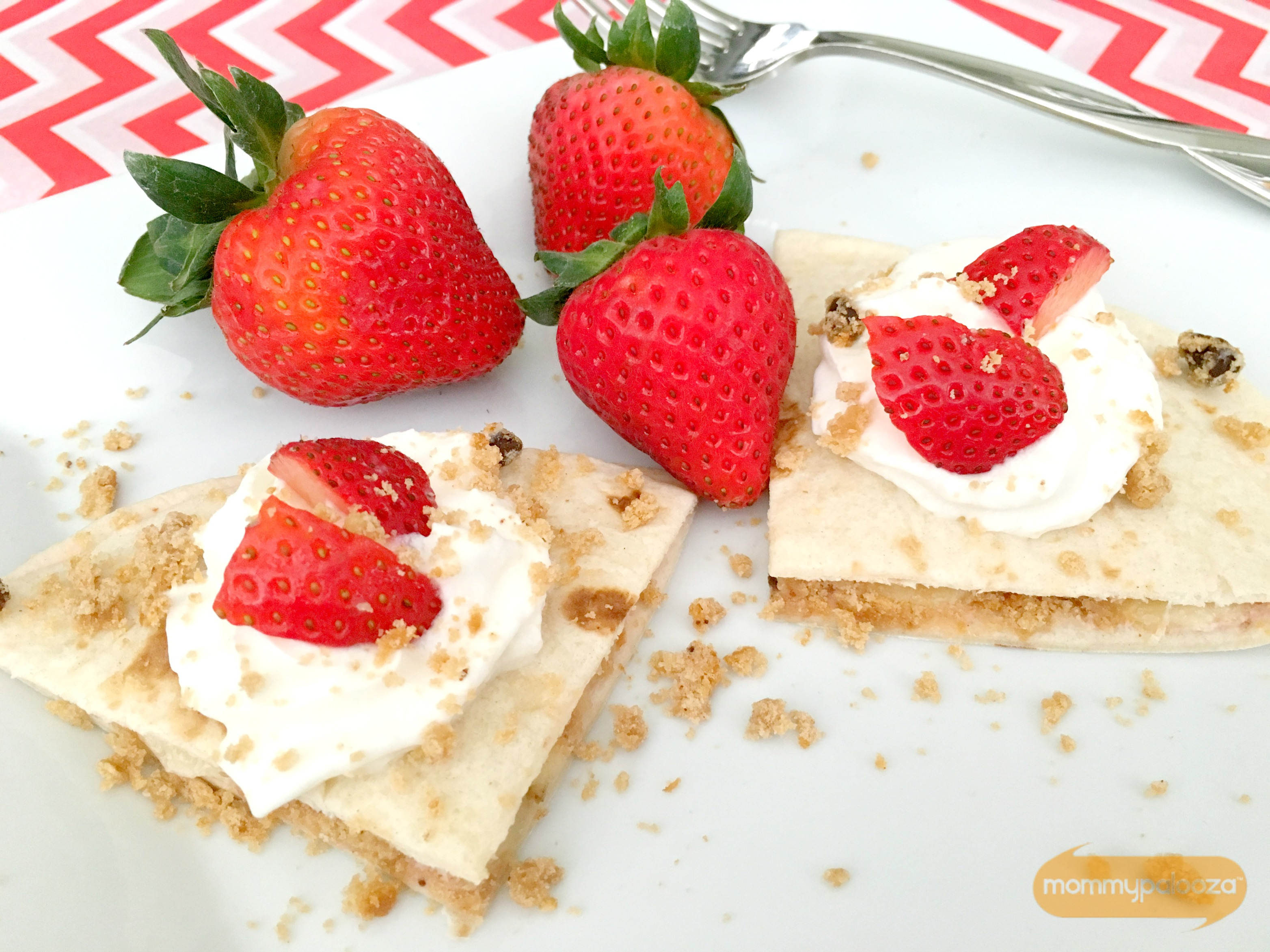 Chips Ahoy Banana and Strawberry Quesadillas Recipe