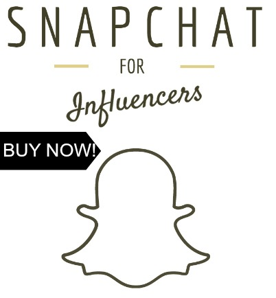 Snapchat for Influencers E-Book is A Complete Snapchat for Dummies Guide