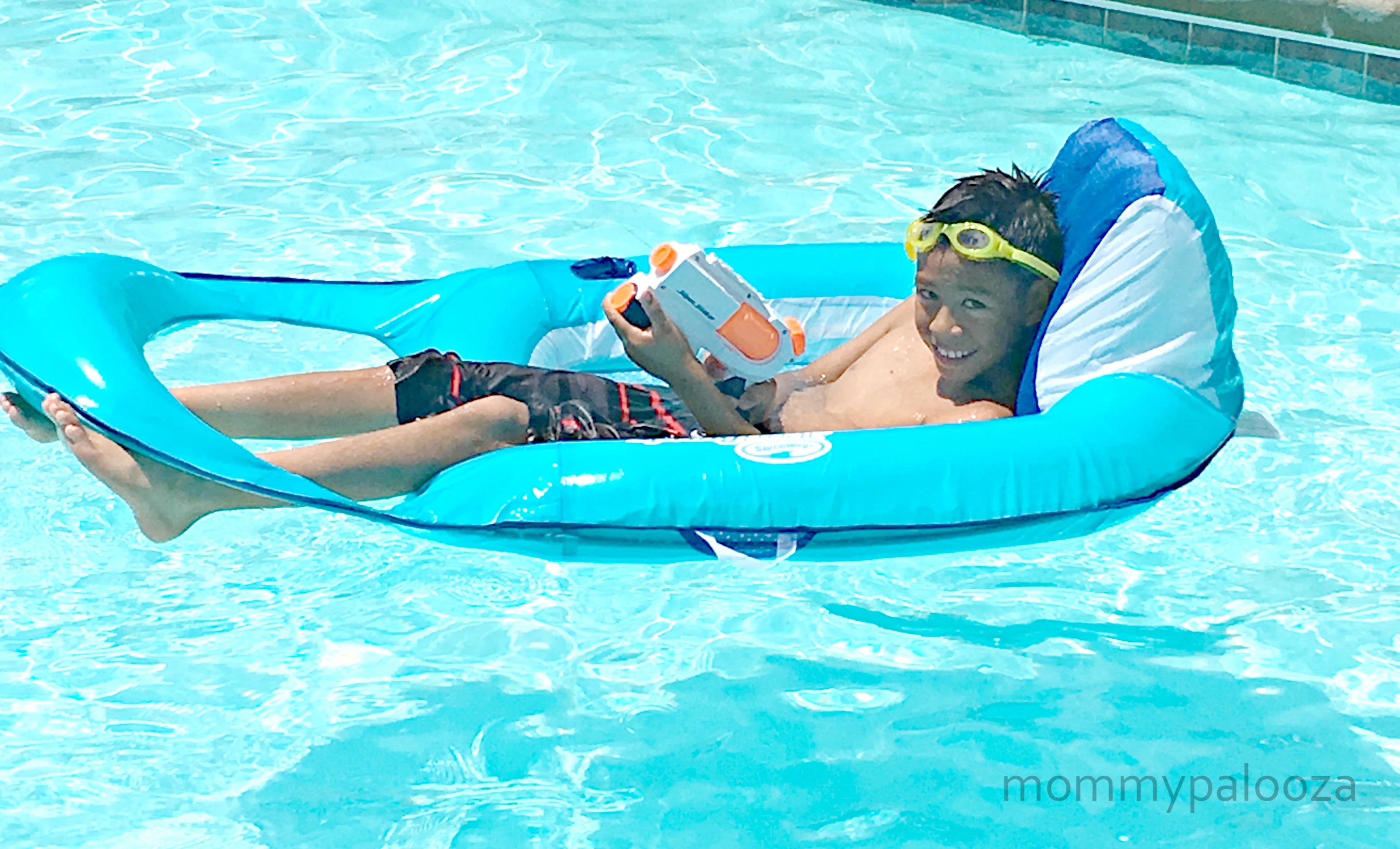 Relax In The Pool With Swimways Spring Float Recliner